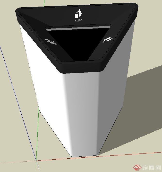 某多边形垃圾桶设计su模型