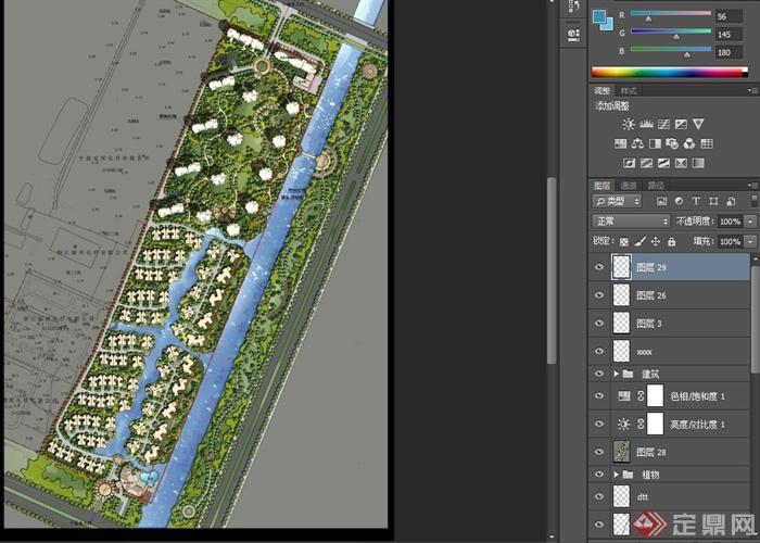 某住宅小区景观规划设计psd方案图[原创]