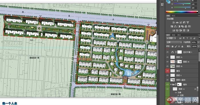 某住宅小区绿化景观规划设计PSD方案图