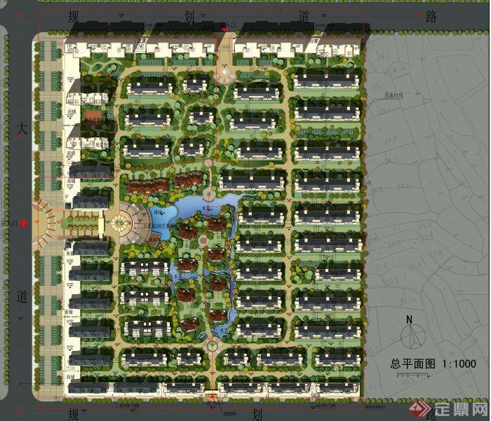 某大型住宅小区规划平面图[原创]