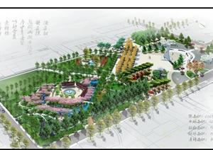 某校园广场景观规划设计SU(草图大师)模型+CAD图+JPG方案文本