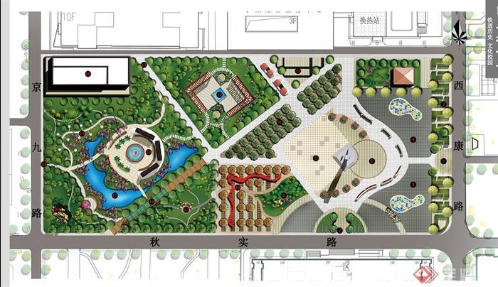 某校园广场景观规划设计su模型 cad图 jpg方案文本(7)