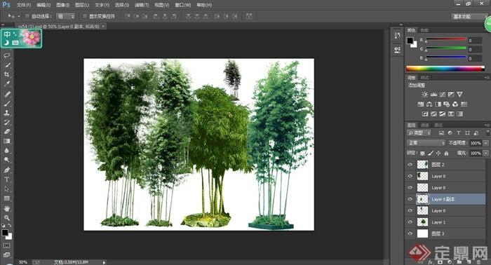 园林景观竹子ps素材