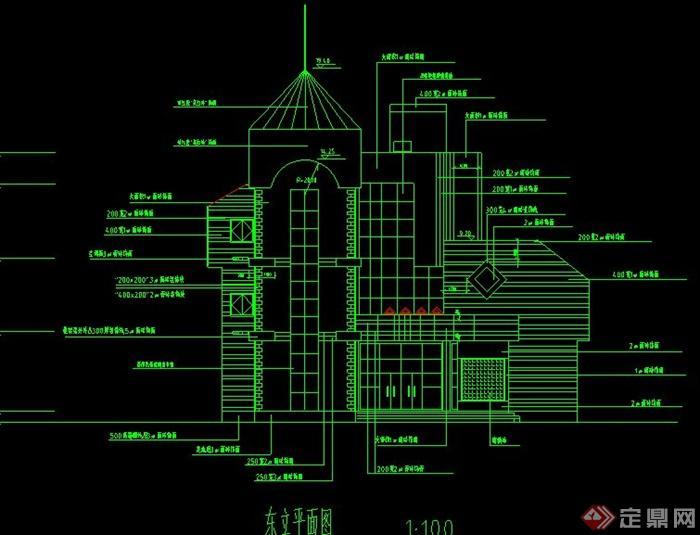 某欧式多层会所建筑设计CAD施工图,图纸内容主要有节点详图、门窗表、建筑立面图、剖面图、剖面图等,具有一定的参考价值。