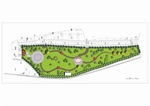 学生作业——植物园、绿地景观效果图及平面图