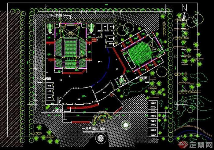 现代风格电影院建筑设计方案图