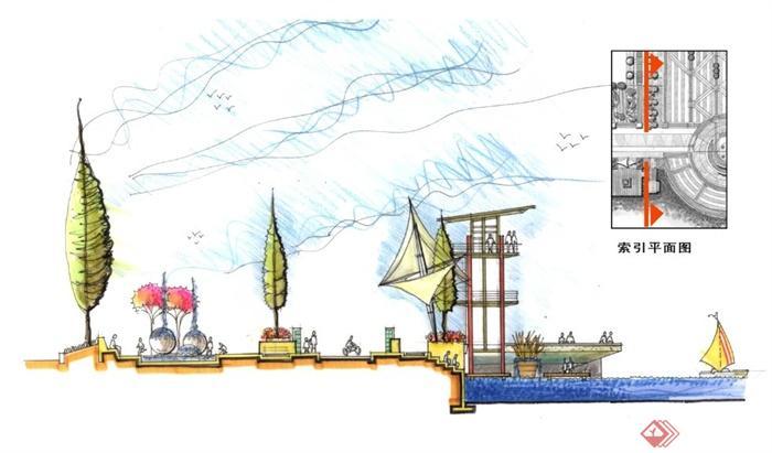 某火车站广场景观规划设计方案(含手绘)