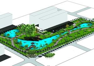 某办公环境规划设计PSD方案效果图