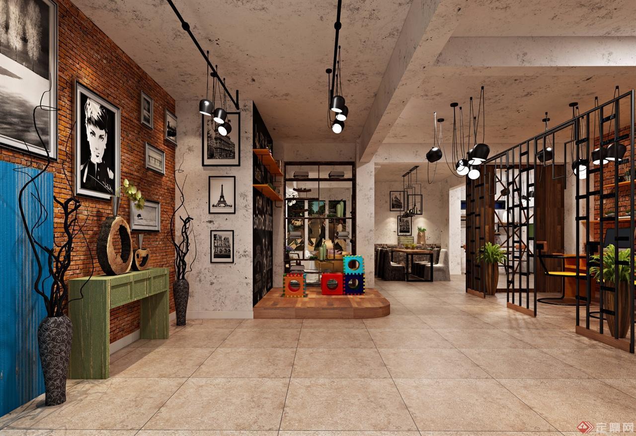 工业风复式楼室内设计