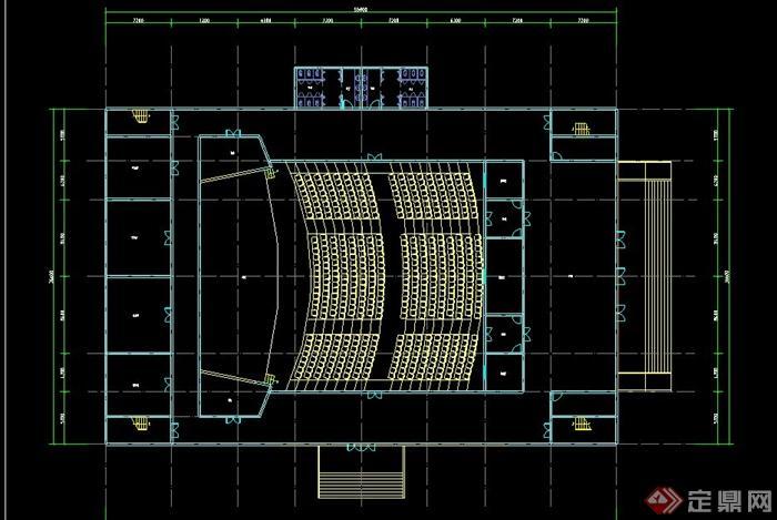 某两层报告厅建筑设计CAD平面图