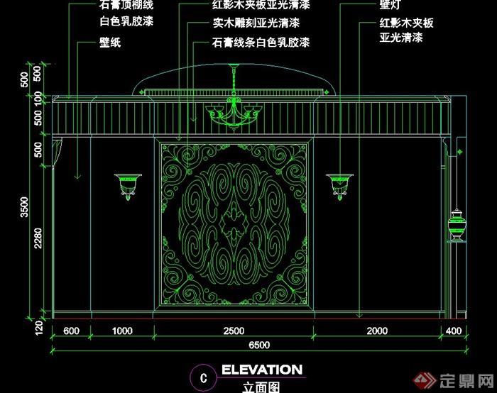现代中式餐厅包间室内设计cad施工图