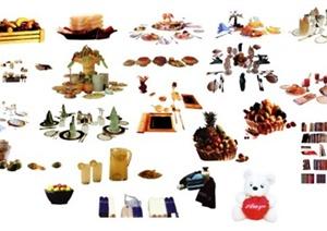 室内餐具素材设计PSD图