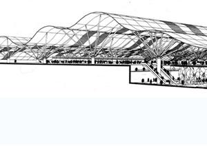 某现代国际机场第五候机楼设计jpg格式文本