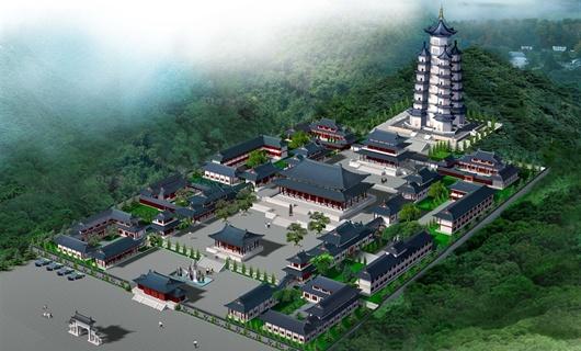 寺院平面效果图
