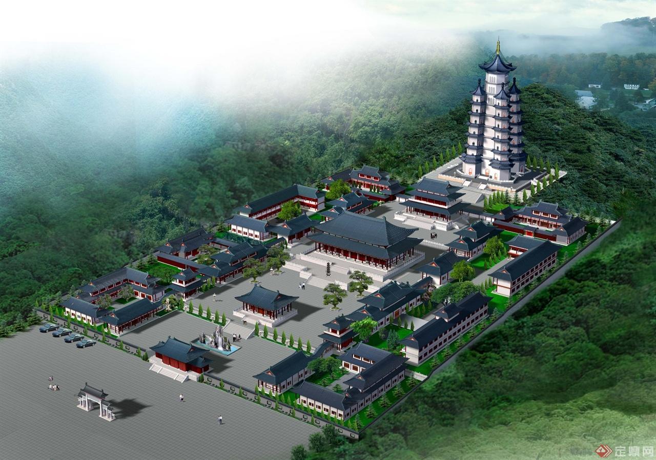 寺庙平面图ps素材