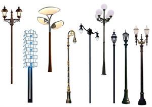 景观常用灯具素材psd格式