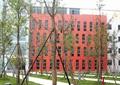 广场景观,乔木,乔木植物,灯柱广场,消防栓
