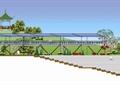 公园景观,公园 广场,台阶踏步,廊架,凉亭,亭子