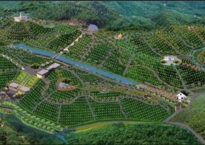 华祖园公墓景观规划设计psd俯瞰总平图图片
