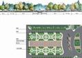 喷泉水池景观,地面铺装,景观树,园路,施工图,广场景观