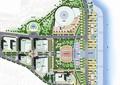 学校景观规划,建筑,道路,植物景观