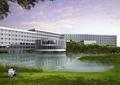 教育建筑,教学楼,水体景观,草坪