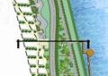 道路,景观树,综合建筑,木栈道,河流景观,滨水景观