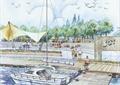 交通码头,码头景观,码头,张拉膜,帆船,帆船码头