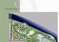 道路,建筑,景观树,草坪,栈道,河道景观,滨水景观