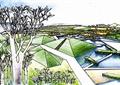 水池景观,公共绿化,绿地景观