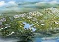城市景观,水体景观,草坪,道路,建筑,景观树