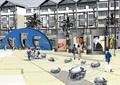 广场规划,广场景观规划,景石石头,广场铺装,商业广场
