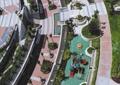 小区景观,廊架,树池,种植池,游乐设施