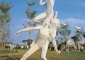 雕塑,人物雕塑,运动雕塑,灌木丛