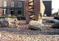 石柱,景观柱,石头,景石,鹅卵石铺装