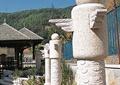 景观柱,石柱,凉亭