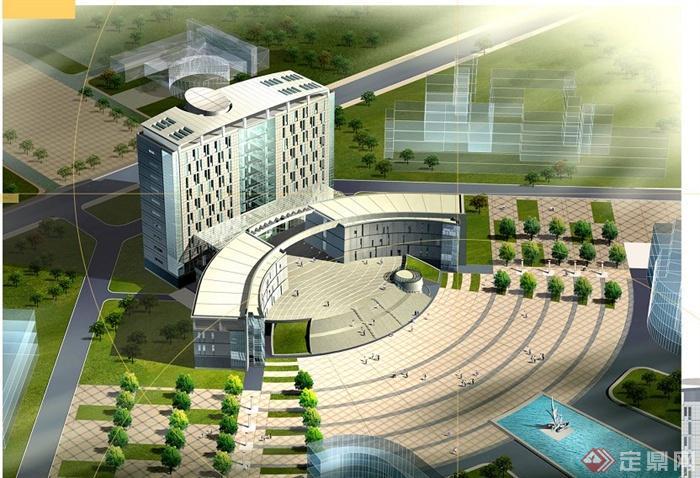 某地中医药大学图书馆建筑设计JPG方案图图片