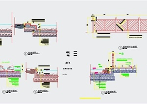 园林景观驳岸设计CAD详图