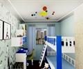 兒童房,臥室,書桌椅,書柜,高低床,裝飾畫