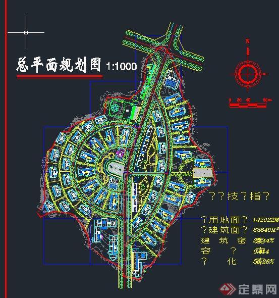 新农村建设CAD总平面规划图图片