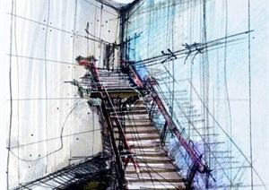 手绘建筑设计JPG方案图