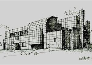 多张手绘建筑设计JPG方案图