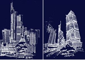 多张建筑设计JPG手绘资料