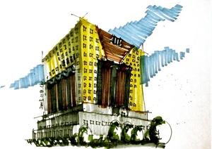 64张手绘建筑方案图