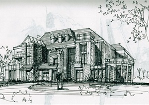 64张各种手绘建筑方案图