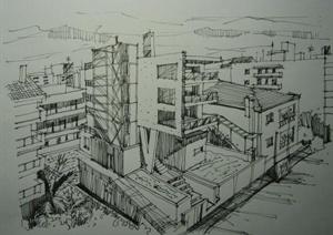 多张手绘建筑方案JPG图