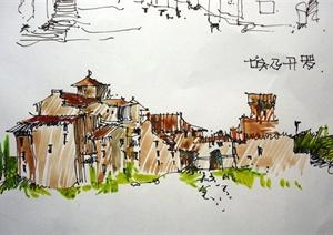 64张手绘建筑方案图JPG格式