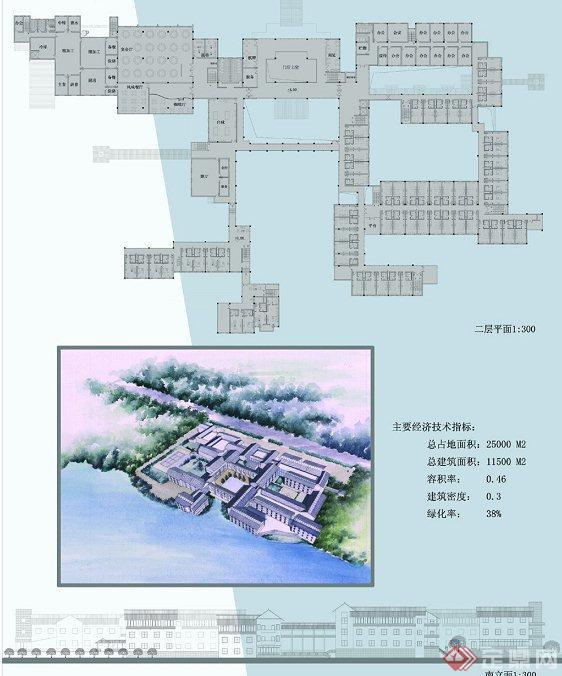旅馆建筑设计平面图_太湖旅馆建筑设计JPG方案图