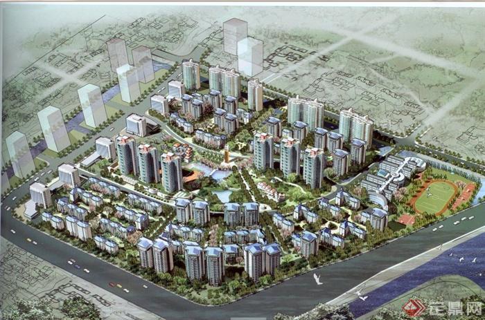 现代某高层别墅与小别墅方案建筑规划设计jpg小区图北京新建住宅机场图片