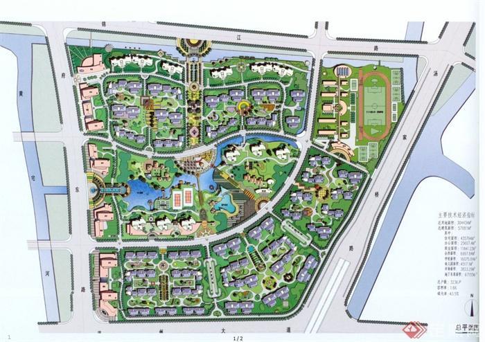 现代某交通高层与小软件方案建筑规划设计jpg地图图绘制小区的路线别墅住宅图片